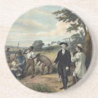 George Washington como práctico de costa del granj Posavasos Manualidades