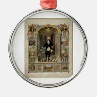 George Washington como retrato del Freemason 1867 Ornamento Para Arbol De Navidad