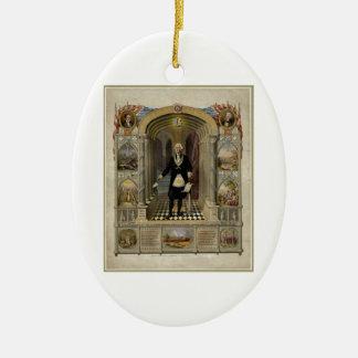 George Washington como retrato del Freemason 1867 Ornamentos Para Reyes Magos