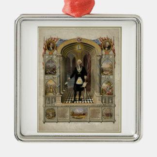 George Washington como retrato del Freemason, 1867 Adorno De Navidad