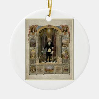 George Washington como retrato del Freemason, 1867 Ornamente De Reyes