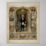 George Washington como retrato del Freemason, 1867 Posters