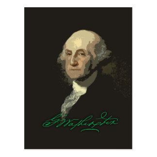 George Washington con el autógrafo Postales
