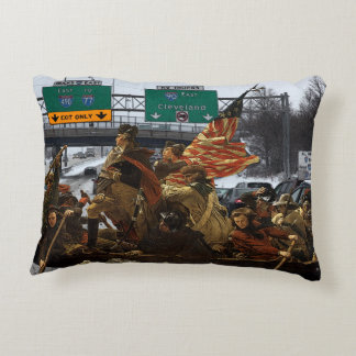 George Washington Crossing I-90 Cleveland Accent Pillow