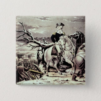 George Washington crossing the Delaware Pinback Button