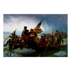George Washington crossing the Delaware River 1851 Posters