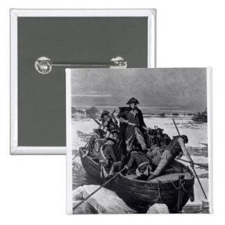 George Washington crossing the Delaware River Button