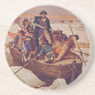 George Washington Crossing the Delaware River Sandstone Coaster