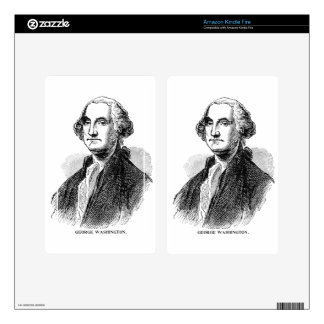 George Washington Decal For Kindle Fire