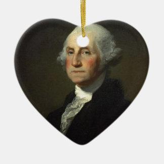 George Washington Adorno De Cerámica En Forma De Corazón