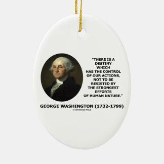 George Washington Destiny Human Nature Quote Christmas Tree Ornament