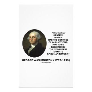 George Washington Destiny Human Nature Quote Stationery