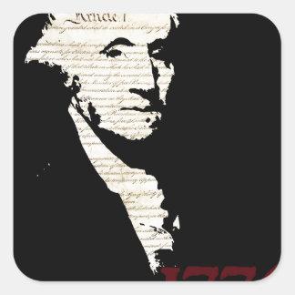 George Washington - diseño 1776 Colcomanias Cuadradass