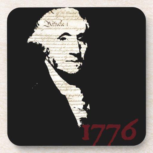 George Washington - diseño 1776 Posavasos De Bebida