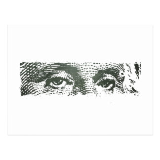 George Washington Dollar Bill Cash Money Postcard