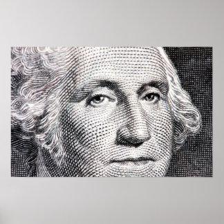 george washington dollar bill poster