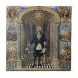 George Washington, el albañil II Azulejo Cuadrado Pequeño