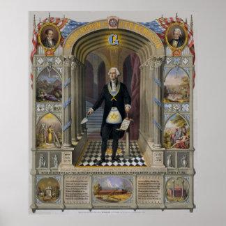 George Washington, el albañil II Posters