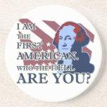 George Washington el primer práctico de costa amer Posavasos Para Bebidas