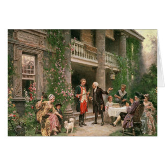 George Washington en el jardín de Bartram Tarjeta De Felicitación