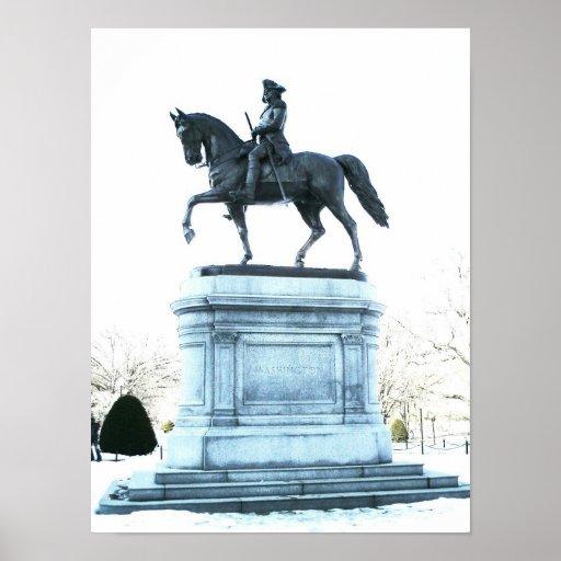 George Washington en el jardín público de Boston Posters