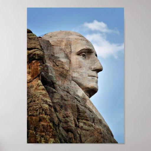 George Washington en el poster del monte Rushmore