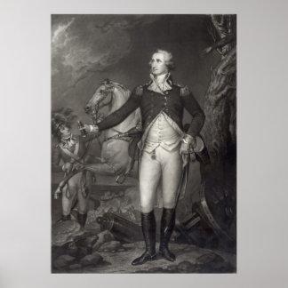 George Washington en el poster/la impresión de Tre Póster