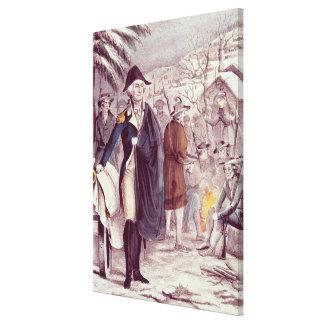George Washington en la fragua del valle Impresiones En Lona Estiradas