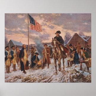 George Washington en la fragua del valle, lona Póster