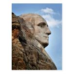 George Washington en la postal del monte Rushmore