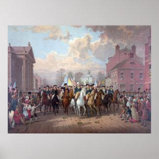 George Washington en poster impresión de Nueva Yo