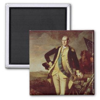 George Washington en Princeton, 1779 Imán Cuadrado