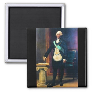 George Washington en Regelia masónico Imán Cuadrado