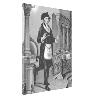 George Washington en Regelia masónico Impresion De Lienzo