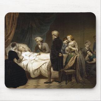 George Washington en su lecho de muerte Mouse Pad