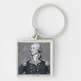 George Washington engraved by Asher Brown Durand Key Chains