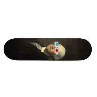 George Washington enjoys 3D Street Art Skateboard Deck