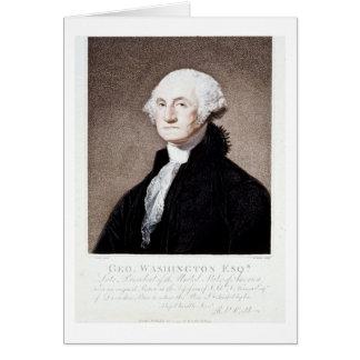 George Washington, Esq. 1798 Tarjeta De Felicitación