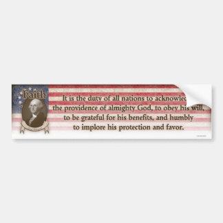 George Washington - Faith Bumper Sticker