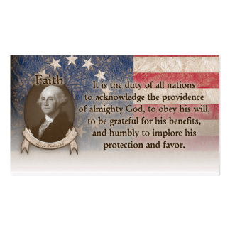 George Washington - Faith Pack Of Standard Business Cards