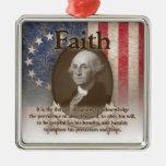 George Washington - Faith Metal Ornament