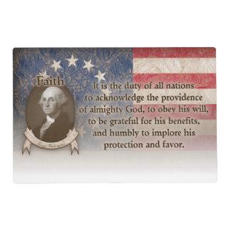 George Washington - Faith Laminated Placemat