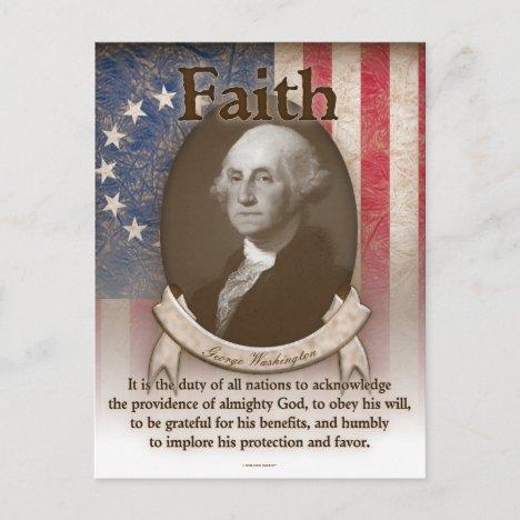 George Washington - Faith Postcard