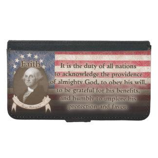 George Washington - Faith Wallet Phone Case For Samsung Galaxy S5