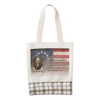 George Washington - Faith Zazzle HEART Tote Bag