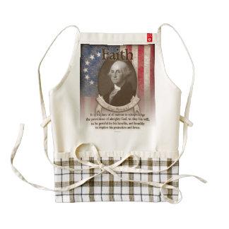 George Washington - fe Delantal Zazzle HEART