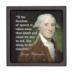George Washington Freedom of Speech Quote Box Premium Gift Boxes
