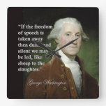 George Washington Freedom of Speech Quote Clock