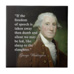 George Washington Freedom of Speech Quote Tile