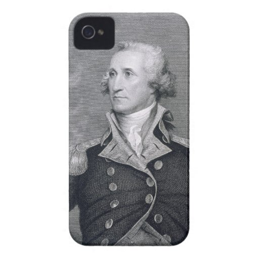 George Washington, grabado por Asher Brown Durand iPhone 4 Carcasas